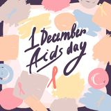 First december aids day concept background, hand drawn style. First december aids day concept background. Hand drawn illustration of first december aids day vector illustration