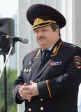 First Deputy Chief of the Main Directorate for Road Traffic Safety of the Ministry of Internal Affairs of the Russian Federation L. MOSCOW, RUSSIA - MAY 29, 2015 Stock Image