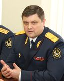 First Deputy Director of Federal service for execution of punishment, Anatoly Rudyi Stock Photo