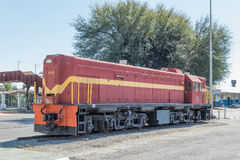 First diesel-electric locomotive in Namibia on display in Windh royalty free stock images