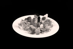 First dish in a plate, copy space Royalty Free Stock Image