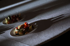 First dish in a plate, view from above Royalty Free Stock Photo
