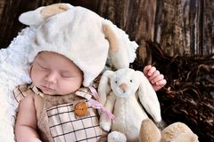 First easter of baby boy Royalty Free Stock Images