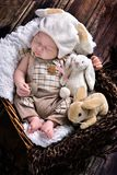 First easter of baby boy Stock Image