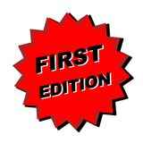 First edition sign. Red first edition sign - web button internet design Stock Photo