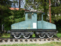 First electrical locomotive used in Romania Royalty Free Stock Photos