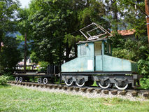 First electrical locomotive used in Romania Royalty Free Stock Photography