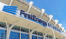 First Energy Stadium in Cleveland, Ohio, USA. royalty free stock image