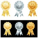 First etc. Vector metallic medallions with numbers Royalty Free Stock Photography