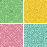 First  ethnicity set. Set of four seamless  pattern with ethnicity motif Stock Image