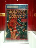 First ever issue of Marvel Comics at MoPOP exhibit in Seattle stock photo
