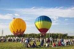 The first festival of Aeronautics `Moscow Sky` in Moscow. Russia stock photos