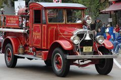 First Fire Engine with custom cab Stock Images
