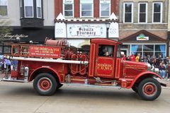 First Fire Engine with custom cab Stock Photo