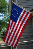 The first flag of the United States with 13-star. It is version of the `Betsy Ross` design Stock Image