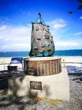 The First Fleet Monument or Bicentennial Monument erected in 1988, commemorates the arrival of the First Fleet in Botany Bay. SYDNEY, AUSTRALIA – On royalty free stock photos
