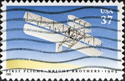 Free First Flight Of The First Airplane By The Wright Brothers, 1903-2003, 100th Anniversary Royalty Free Stock Image - 184854916