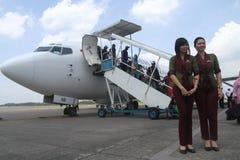 First flight Stock Image