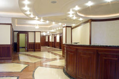 First floor of living building. In the center of town. Moscow, Russia Stock Photography