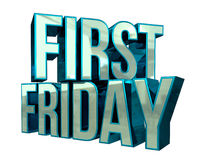 First Friday 3D Text Royalty Free Stock Image