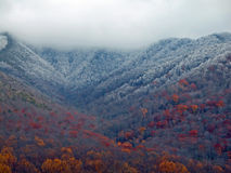 First frost on the mountain landscapes Royalty Free Stock Photos