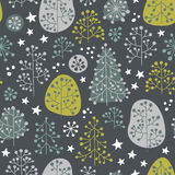First Frost - seamless pattern. Late autumn mood. Fabulous forest illustration in gentle colors. Vector seamless pattern vector illustration