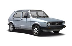 First generation VW Golf Stock Photo