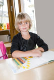 First grade girl Stock Image