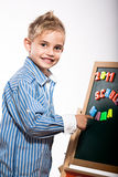 First grader boy Stock Photography