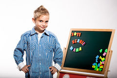 First grader boy Royalty Free Stock Photos