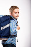 First grader boy Stock Image