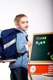 First grader boy Royalty Free Stock Photo