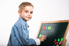 First grader boy Stock Photos