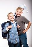 First grader boy Stock Image