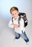 First grader boy Royalty Free Stock Photography