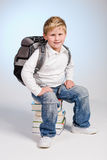 First grader boy Royalty Free Stock Photo