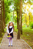 First grader, day of knowledge - 1. September Royalty Free Stock Photos