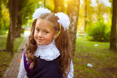 First grader, day of knowledge - 1. September Stock Photography