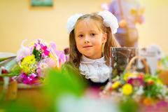 First grader, day of knowledge - 1. September Stock Photo