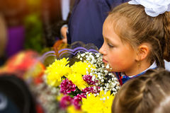 First grader, day of knowledge - 1. September Royalty Free Stock Photography