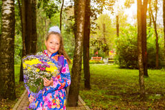 First grader, day of knowledge - 1. September Stock Image
