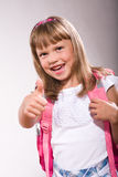 First grader girl Royalty Free Stock Photo