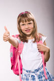 First grader girl Stock Photos