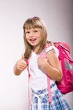 First grader girl Royalty Free Stock Photography