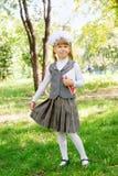 Schoolgirl first grader Stock Images