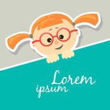 The first grader with glasses Royalty Free Stock Images