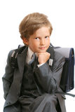 The first-grader in a suit Stock Images