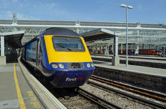 First Great Western Train at Waterloo Station, London Royalty Free Stock Image