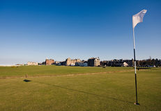 First green at St Andrews Old Course Royalty Free Stock Photos