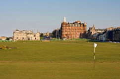 First green St Andrews Old Course Royalty Free Stock Photos